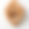 Hochet de dentition en bois, forme: coeur