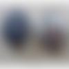 2 boutons recouverts de velours gris - 22mm