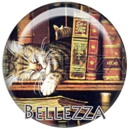 Cabochon résine 25mm, chat, animaux