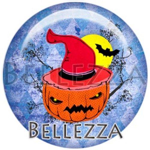 Cabochon résine 25mm, halloween, citrouille, fantôme, évènementiel