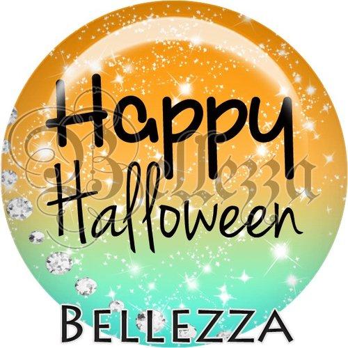 Cabochon résine 25mm, halloween, citrouille, fantôme, sorcière, évènementiel