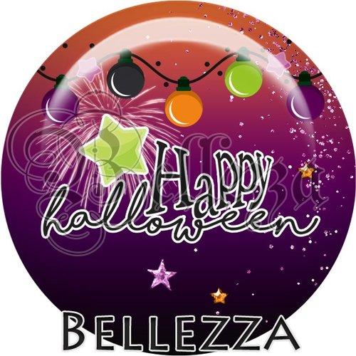 Cabochon résine 25mm, halloween, citrouille, licorne, sorcière, évènementiel