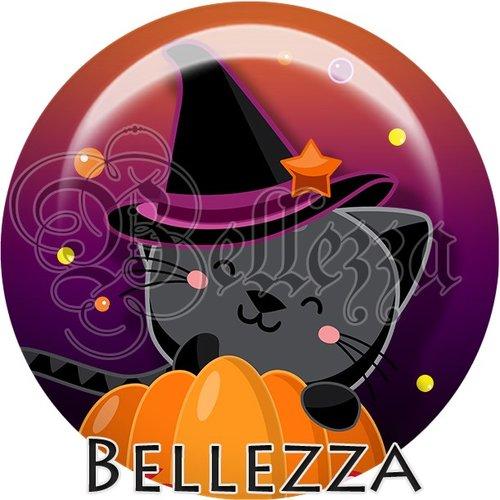 Cabochon résine 25mm, halloween, citrouille, licorne, chat, sorcière, évènementiel