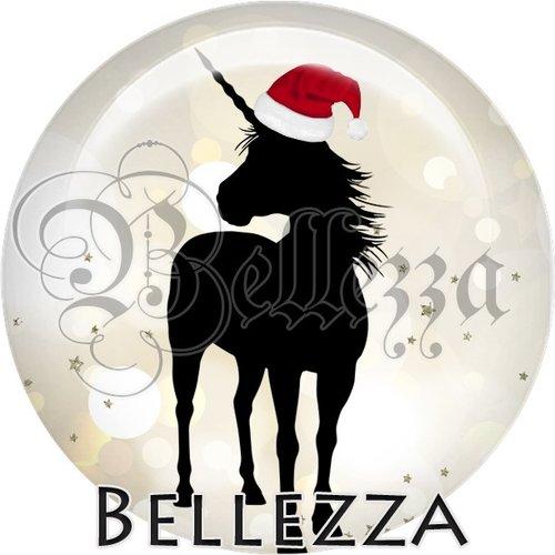 Cabochon résine 25mm, noël, chimère licorne, fêtes de fin d'année, hiver, sapin, flocons, événementiel