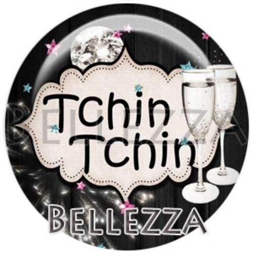 Cabochon résine 25mm, bonne année,tchin tchin, fêtes de fin d'année, hiver, confettis, champagne, événementiel