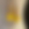 Boucles d'oreilles sorbet citron