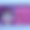 Trousse en coton avec un imprimé représentant un tableau béné la puce et un coton enduit  fleuri , imperméable à l'intérieur