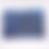 Grande trousse en coton avec des vagues stylisées bleues et dorees , imperméable à l'intérieur