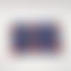 Trousse en coton bio bleu avec des animaux , imperméable à l'intérieur