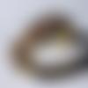 Bracelet perles tissées, jonc ouvert, jonc doré, tissage miyuki