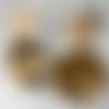 Boucles d'oreilles en résine, boucles écaille de tortue, clous d'oreilles carrés