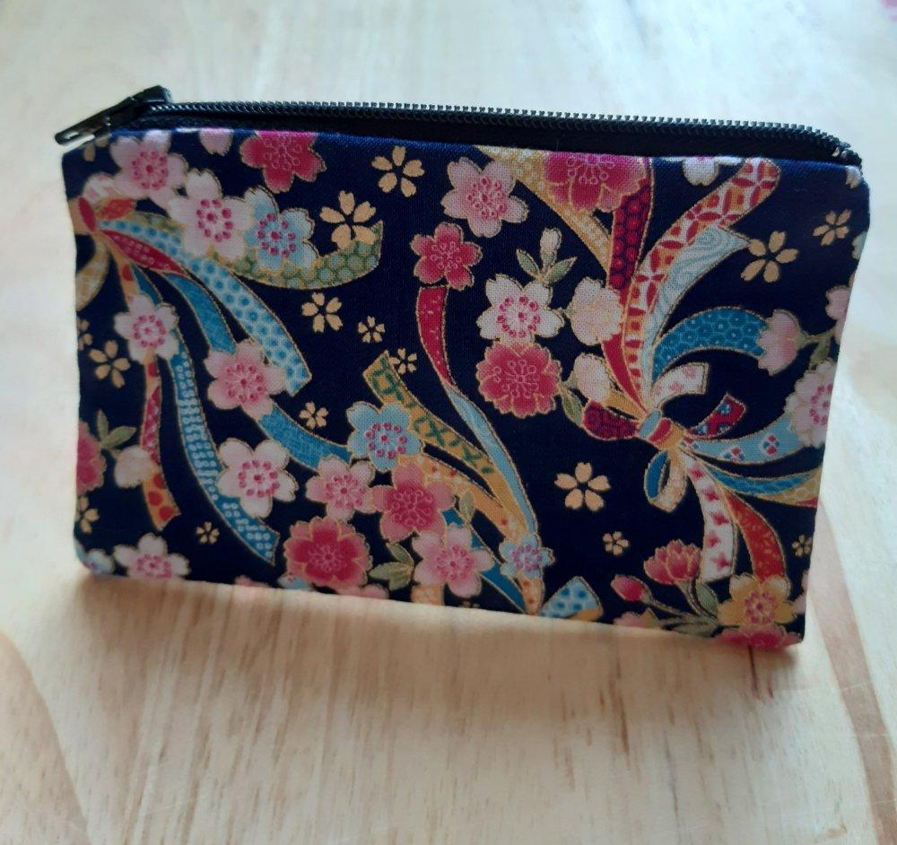 Porte monnaie en tissu japonais
