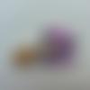Minnie chat cabochon plat en résine  baby rose  40*30mm