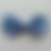 Noeud  à paillette  80*50mm bleu ciel
