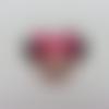 Cabochon minnie plat en résine 34*35mm rose fuchisa