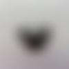 Cabochon en résine  souris minnie noeud blanc à rayures noires  25*25mm