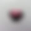 Cabochon en résine  souris minni noeud rose fuchsia avec strass 25*25mm