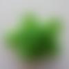 Tête de rose en mousse  70mm vert foncé