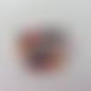Cabochon plat en résine minnie mickey 32*32mm