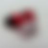 Minnie cabochon plat en résine   souris noeud rouge 42*39mm