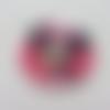 Minnie cabochon  plats en résine   rose 38*40mm