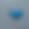 Coeur moyen  en feutre rembourré  épaisseur 1mm  32*32mm bleu