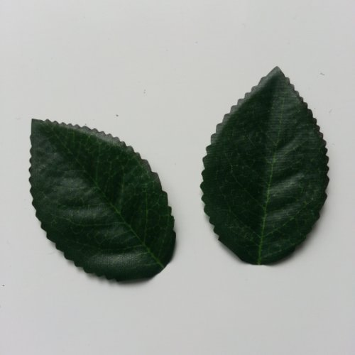 Lot de 2 feuilles artificielles vertes  60*40mm
