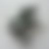 Bouquet de 12 minis boules de noel sur tige gris