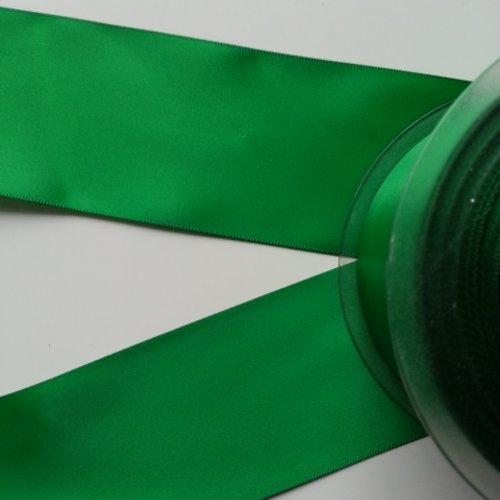 1 metre de ruban  de satin double face vert 50 mm