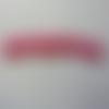 Bandeau elastique cheveux rose  à pois blanc