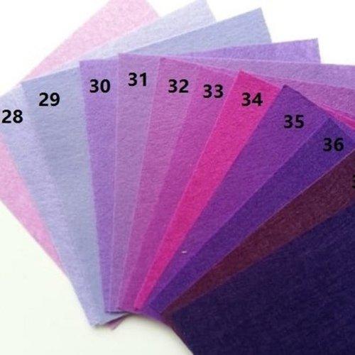 N35 feuille de feutrine unie 15*15cm violet