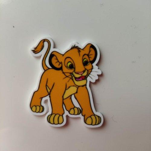 Cabochon plat en résine roi lion  simba 35*40mm