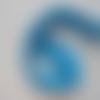 1 mètre de  bandeau cheveux crochet extensible de couleur bleu turquoise