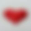 Coeur satiné  rouge  50*40mm