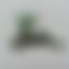 Renne  en tissu holographique vert    50*40mm