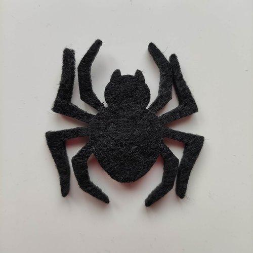 Araignée halloween en feutrine noire 45*45mm