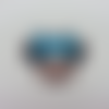 Cabochon minnie plat en résine 34*35mm bleu