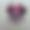Minnie cabochon plat en résine souris  lunette  35*45mm
