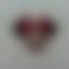 Minnie cabochon plat en résine  souris noeud rouge 40*38mm