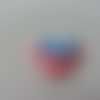 Cabochon en résine rose souris minnie  noeud bleu pois blanc 27*28mm