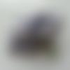 Bouquet de 12 minis boules de noel sur tige gris bleuté
