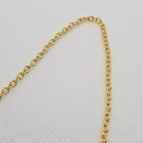 Chaine maille forçat dorée