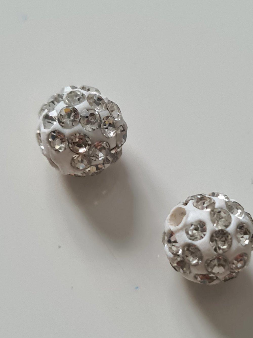 Perle strass clair 8mm