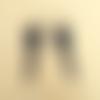 Boucle d'oreilles « neptune » noire