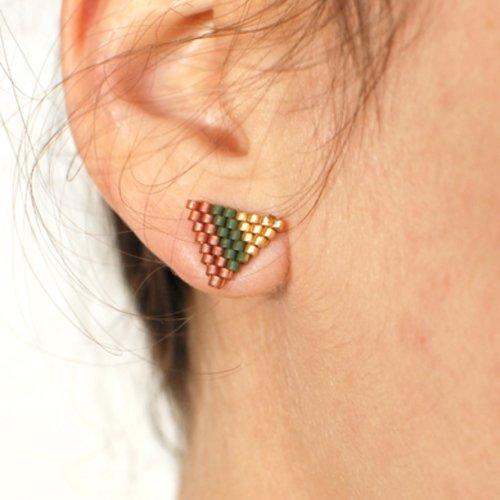 Boucles d'oreilles « venus » rose et or