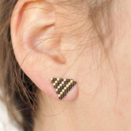 Boucles d'oreilles « venus » noir et or