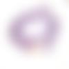 Bracelet nautique corde violet avec crochet poisson, hameçon pêcheur, ancre marine dorée pour homme et femme, unisexe