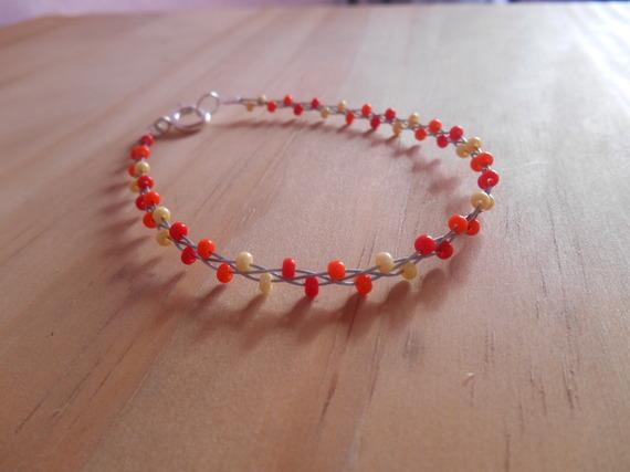 Bracelet tendance perles rocailles colorés