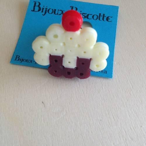Bague Réglable Originale Pixel Gateau Cupcake