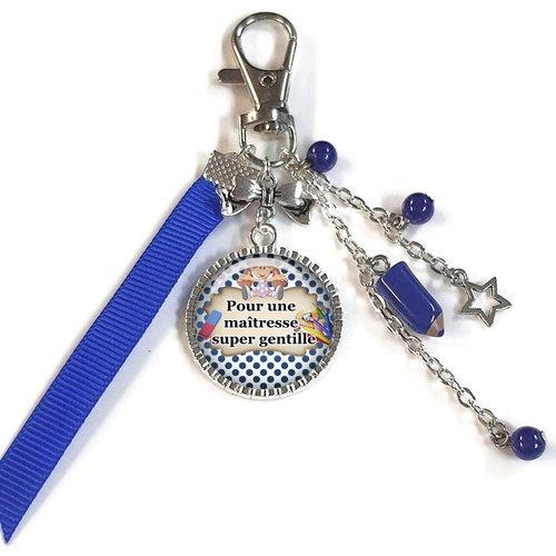 Porte-clés maîtresse, bijou de sac pour une maîtresse super gentille, d'année scolaire